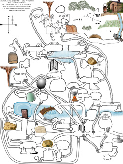 A map of the entire Colossal Cave, courtesy Mari Michaelis.